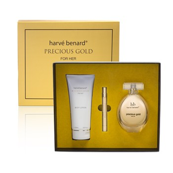 Harvé Benard Precious Gold for Her 3 Piece Gift Set
